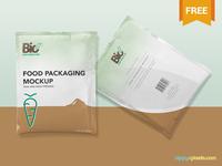 Free Foil Sachet Mockup