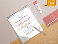 Free Realistic Sketchbook Mockup