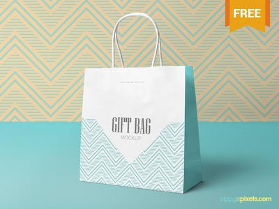 Free Attractive Gift Bag Mockup branding packaging shopping bag bag gift photoshop psd mockup freebie free