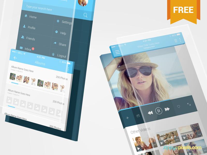 2 Free iPhone App Mockups devices iphone 8 iphone x app presentation apple ios photoshop psd mockup freebie free