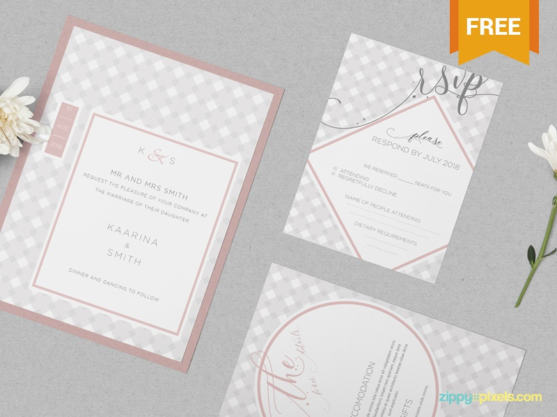 Free Wedding Invitation Mockup Psd By Zippypixels Dribbble Dribbble