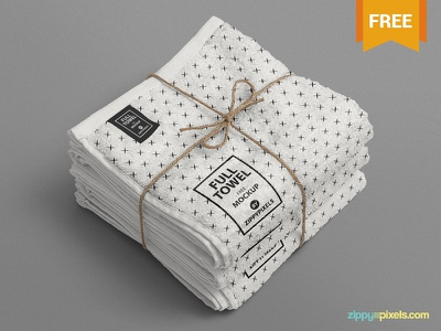Free Attractive Beach Towel Mockup presentation fabric beach towel apparel towel photoshop psd mockup freebie free