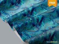 Free Beautiful Fabric Mockup PSD