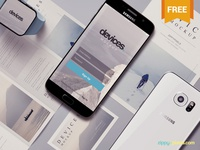 Free Android Mobile Mockup Scene