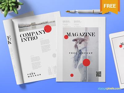 Free Magazine Ad Mock Up catalog cover advertisement ad magazine photoshop psd mockup freebie free