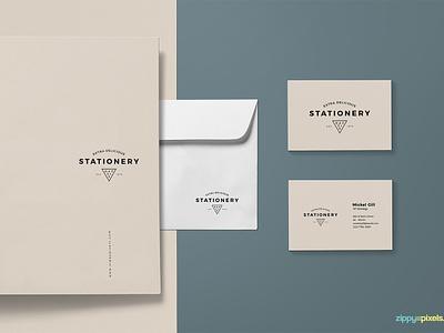 Free Brand Identity Mockup envelope business card letterhead branding stationery photoshop psd mockup freebie free