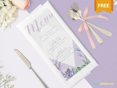 Free Gorgeous Restaurant Menu Mockup