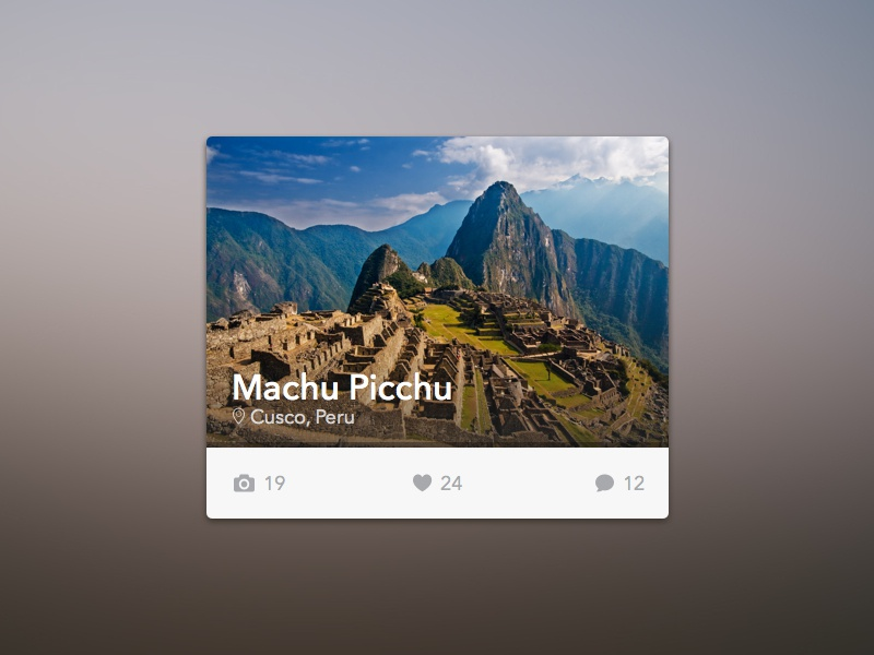 Travel Widget [Freebie] peru ui freebie free design widget sketch interface minimal clean tourism travel