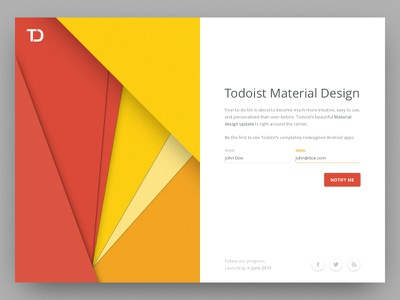 Todoist Material Design 2020 trend 2020 peru android todo todoist minimal web app web color interface ui material