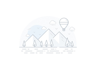 Empty state Illustration 2016 peru vector tree travel empty state line clouds mountains sketch illustration minimal