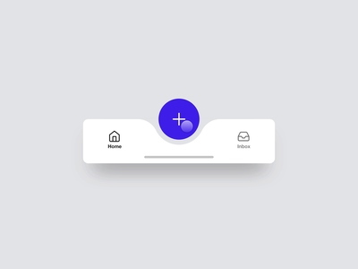 Tab Bar Interaction framer x framerx framer concept minimal ui ux toolbar tabs tab pattern navigation motion explore discover bottom app android ios animation