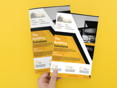 Flyers for Advertising constructions building flyers logo advertisement