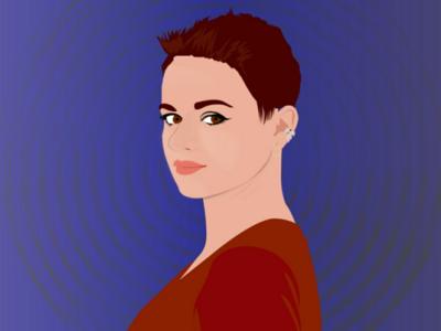 Girl Digital Art heroine comic red portrait digital art girl