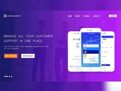 Hero section landing page