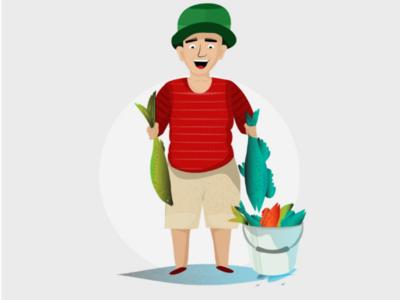 A Cartoonists Fisherman
