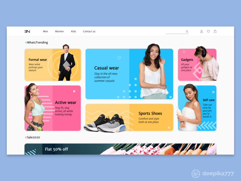 Apparel Store - Web design web page interaction design clothes gadgets sports wear fashion apparel ecommerce shop ecommerce sale trending home minimal ux ui web design website figma
