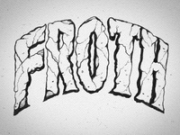 Chalk Mural Lettering - Froth