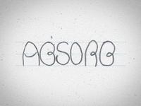 Chalk Mural Lettering - Absorb