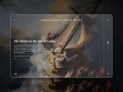 Museum minimal website design web typography ux ui
