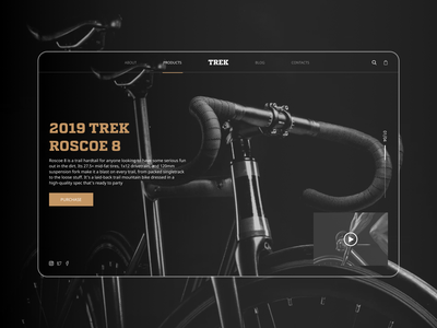 Trek Bike type website web ui ux typography minimal design