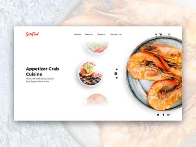 Seafud Landing Page Design