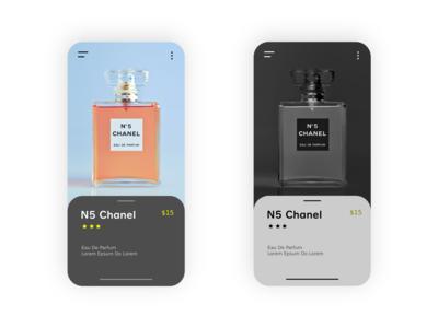 Perfume Mobile App UI Design