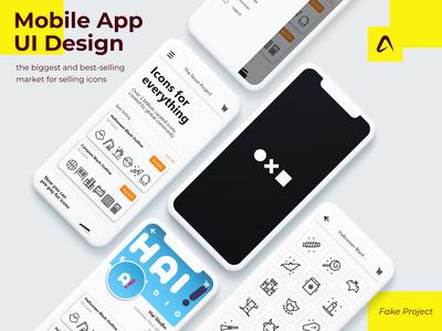 The Noun Project Mobile App Design
