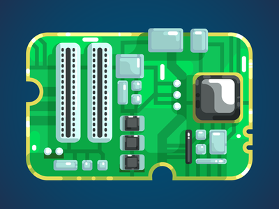 Mainboard illustrator mainboard flat design illustration vector