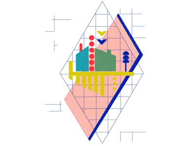 Composition 2 buildings geometry shapes texture design vector art digital drawing abstract illustration abstract art graphic  design vector illustration vector illustration