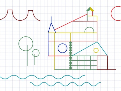 Architector Kids childhood architecture design kids drawing shapes design digital drawing abstract illustration abstract art graphic  design vector illustration vector illustration architecture