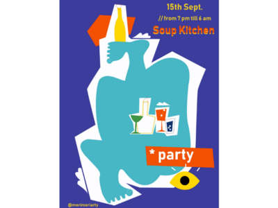 SoK body shapes party poster party artwork collage illustration ai poster