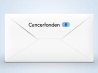 Envelope illustration for the Swedish Cancer Ass.