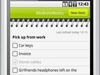 MobisleNotes screenshot