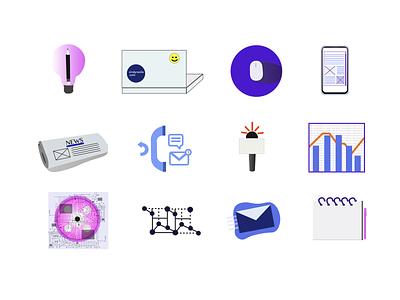 Exploring Icons digital design vector illustrator graphics data business design information design infographic iconset icons