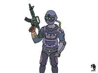 Futuristic soldier ready for action!
