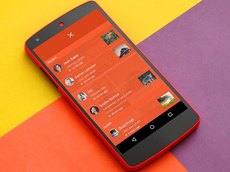 Android App Notifications close ux ui app lollipop notifications alerts material
