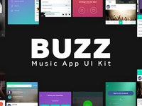 BUZZ Music App UI Kit