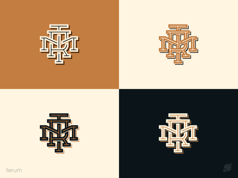 Terum monogram logo monogram terum options font logo vector логотип лого branding retro old school minimal graphic design typography logo creative blackorbitart vector graphics