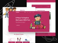 Kids Education Website Template