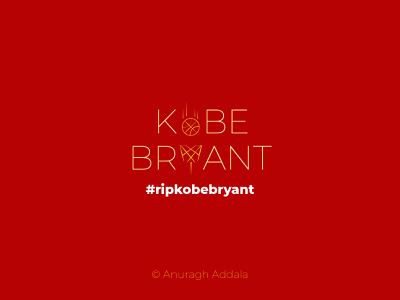 Kobe Bryant lettering typography vector illustrator art minimal illustration flat design