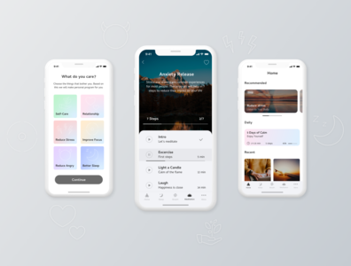 Meditation and breathing mobile app