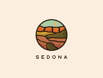 Sedona hiking sedona design illustration vector illustrator
