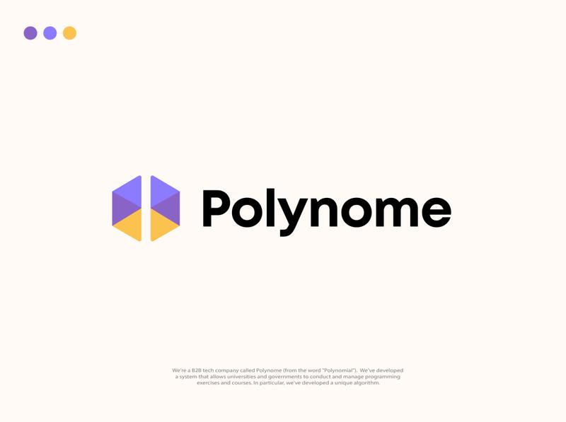 Polynome logo graphic design icon branding logodesign illustrator vector