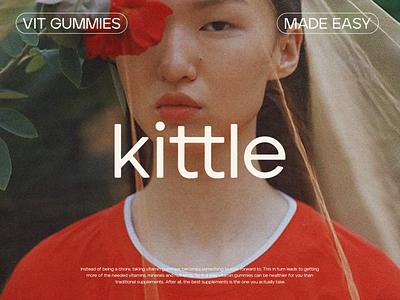 Logotype for Kittle Gummies brandingidentity illustrator vector flat logodesign design graphic design branding logo