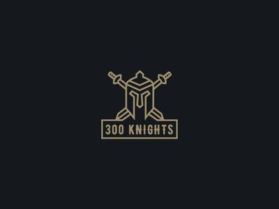 300 knights -Unused  Logo