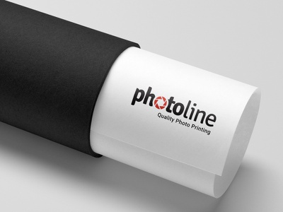 Logo Photoline - quality photo printing branding icon typography logo
