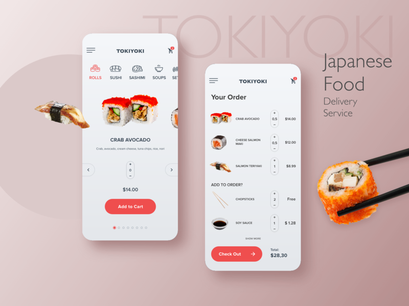 TokiYoki - Japanese Food Delivery Service app mobile web design ui ux