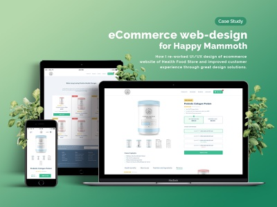 Ecommerce web-design for Happy Mammoth mobile ecommerce design ecommerce web design ux ui