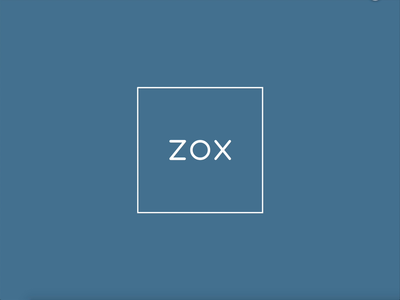 ZOX - logo animation design animation branding logo app mobile ux ui