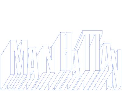 Manhattan branding illustration variable font sans herblubalin herb building magazine brand creative lettering typography condensed manhattan